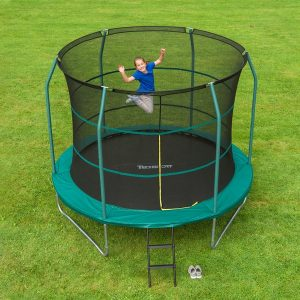 Exercise in the spring free trampoline and ricochet